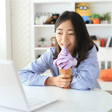 2017 New 4Colors 3D Kawaii Ice Cream Cushion Stuffed Toys Decorative Baby Sleeping Appease Pillows Birthday Gift Home Decoration