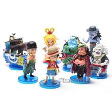 Anime One Piece Toys The fish men island Luffy Zoro Jinbe Hordy Jones PVC Figures 8cm 8pcs/set