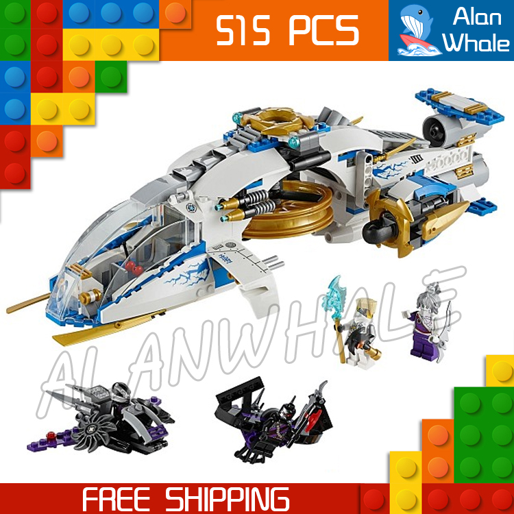 515pcs Bela 10223 Ninja Copter Toy aircraft Assembled Building Blocks Toys Compatible With Lego<br>