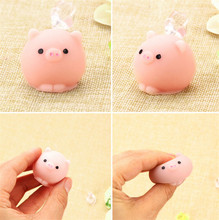 Kawaii Collection Fun Joke Gift Anti-stress Toys for children or adult Cute Pig Ball Squishy Squeeze Prayer Cute Toy(China)