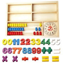 New Puzzle Wooden High Quality Toys Digital Abacus Alarm Clock Educational Toys For ChildrenToys(China)