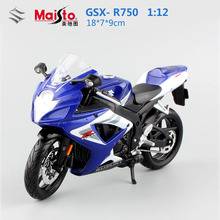 Original maisto 1:12 Children's Suzuki GSX- R750 metal models motor jouets miniature race car moto bike collectible kids toys