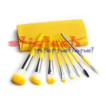 by dhl or ems 20bags Beauty Facial Brush 8 PCS Lemon Makeup Brushes Set Cosmetic Brush kit Soft Synthetic Powder Foudation brush(China)