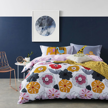 "sunflowers 78""x90"" duvet cover flat sheet pillow case Reactive printed pure cotton queen kids 4pcs bedding sets(China)"