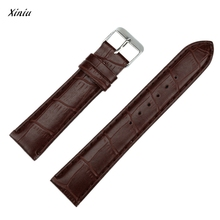 Xiniu Strap Watch Band Watchband 20mm Fashion Man Women PU Leather Bands With Silver Stainless Steel Buckles