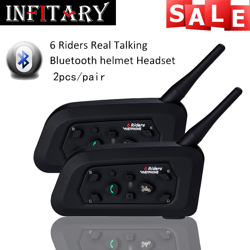 2pcs/pair 2 Bluetooth intercom HD binaural headset stereo music professional waterproof windproof power auto-answer the phone<br><br>Aliexpress