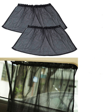 CheMeiMei 1Pair Black Side Car Sun Shades Rear Window Sunshades Cover Visor Shield Screen Curtains Interior Accessories(China)