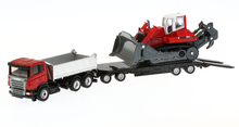 Germany siku official high alloy car model trucks with trailers and small excavators U1854 Gifts