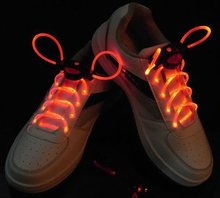 (8 pcs/lot)Free Shipping_LED Light up Flashing shoelaces for dance/ LED Shoelaces Flash Party Disco Shoe Laces Shoe Strings(China)
