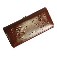 Women Long Purse Vintage multiple Cards Holder Clutch Standard Pu Leather Wallet Butterfly Embossing Ladies Clutch Money Bags