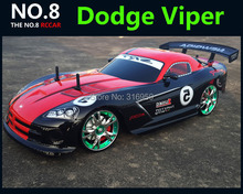 Large 1:10 RC Car High Speed Racing Car 2.4G Dodge Viper 4 Wheel Drive Radio Control Sport Drift Racing Car Model electronic toy