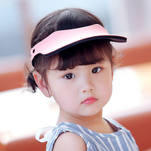 Summer Visor Sunhat With Elastic Band Brim Blank Cotton Cap Empty Top Hats anti-ultraviolet Ourdoor Caps For Boys And Girls