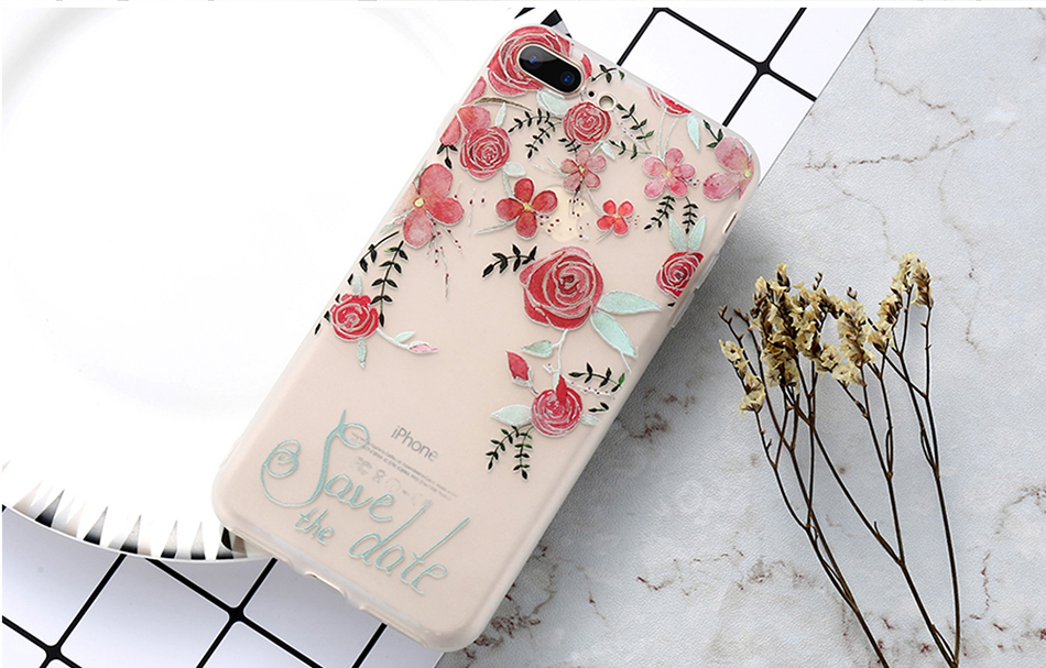 flower patterned case for iPhone 6 6s 7 Plus (12)