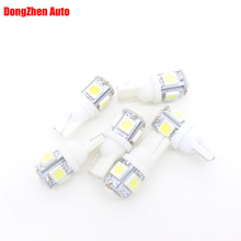 100X 24V T10 5 5050 LED Car External Light License Plate Dome Festoon Light Parking Reading Interior Light Source DRL Xenon Lamp(China)