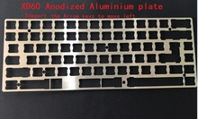 60% ANODIZED Aluminum Mechanical Keyboard Strongback plate Plate support xd60 xd64 gh60 The Arrow keys move left(China)