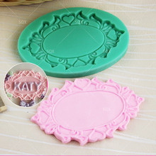 Free Shopping Liquid Silicone Rubber Mold Diy Round Mirror Frames Fondant Cake Mold Soap Mold SQ1637
