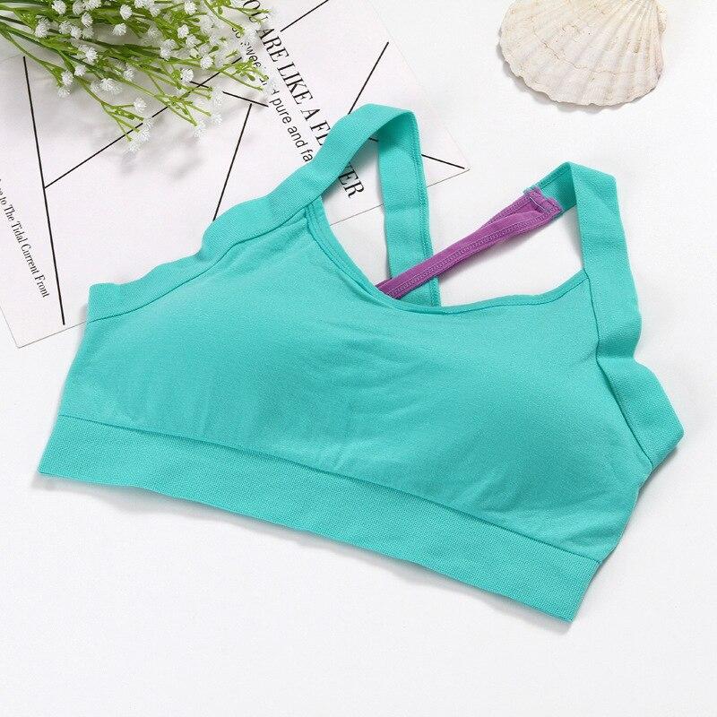 Cross Back Stitching Color Sports Bra Women Fitness Bra Breathable Yoga Bra Women Underwear Brassiere Sport Bra Top Bralette 3