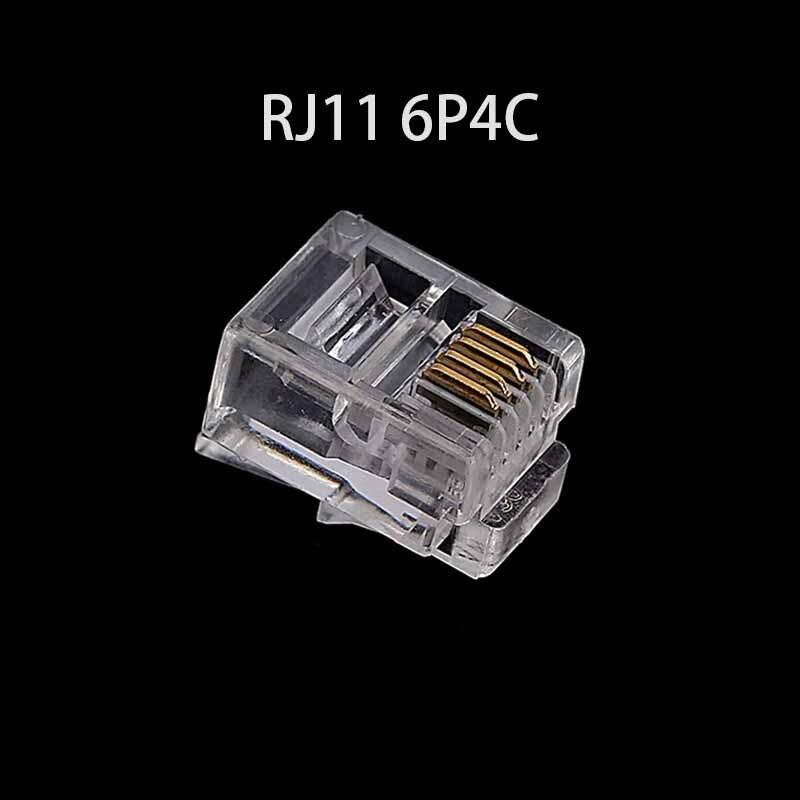6Pin RJ11 RJ-11 6P6C 6P4C 6P2C Modular Plug Telephone Phone Connector  (3)