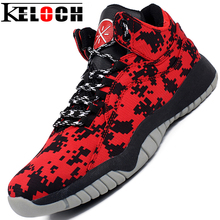 Keloch Camouflage Upper Non-Slip Mens Athletic Basketball Shoes Breathable Outdoor High-Top Sneakers Traning Shoes