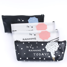 Cartoon Umbrella Pattern Pencil Case Large Capacity Stationery Student Pencil Bag