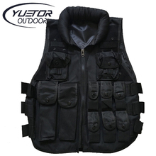 YUETOR Outdoor Training Airsoft Body Armor Black Paintball Swat Vest  Colete Tatico Military Army Style Tactical Vest for Men