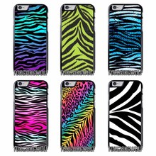 Colorful neon Zebra Cover Case For Iphone 4 4s 5 5c 5s se 6 6s 7 8 plus x xiaomi redmi note oneplus 3 3T 4X 3s(China)