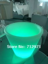 Open discount LED rave party E-icebucket Christmas decorative louminous bucket /LED novelty pail with 3 pcs champagne