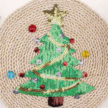 DoreenBeads Christmas Trees Patch Sequined Appliqued Sew On For Hats Clothes Jeans Sweater Bag Xmas Garment Accessory 1PC