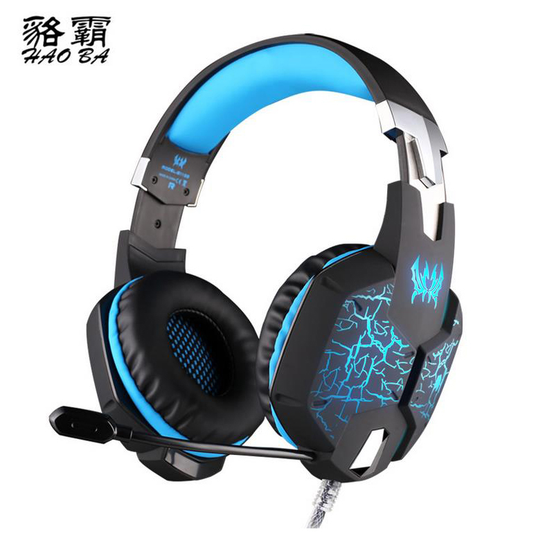 HAOBA GS1100 Earphone Luminous vibration Headset Gamer PC Headphhone Stereo Gaming Headphone with microphone For PS4 XBOX ONE<br>