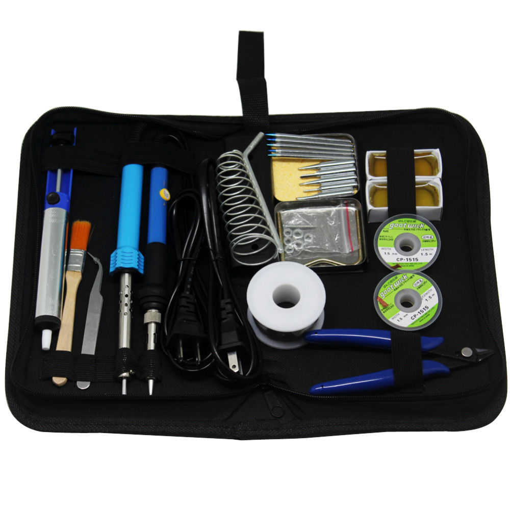 AideTek 23in1 30W 60W Soldering Iron Kit Thermoelectric Iron Tips Toolbox SPE2<br>
