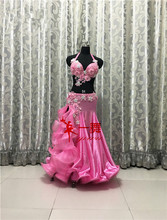 Bellydance oriental Belly Indian gypsy dance dancing costume costumes clothes bra belt chain scarf ring skirt dress set suit 453