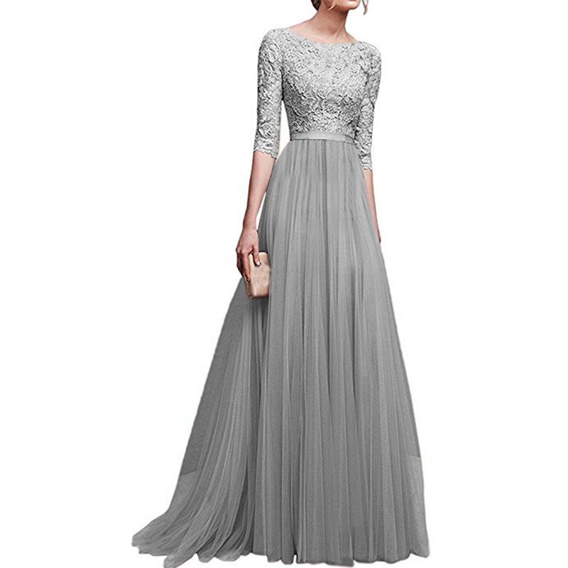 2018-New-Elegant-Full-Sleeve-Chiffon-Lace-Stitching-Floor-length-Women-Party-Prom-Evening-Red-Long