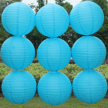 Chinese paper lanterns 10pcs/lot 12''(30cm) Dark blue color Round lamps for home wedding decoration party suppliers