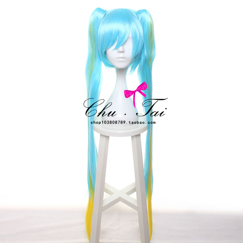 League of Legends/Sona Buvelle Maven of the Strings 120cm Blue Mix Long Straight Chip Ponytail Cosplay Anime Wig LOL+Free Cap<br><br>Aliexpress