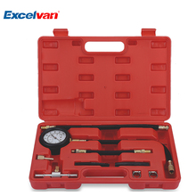 Auto Fuel Injection Pump Pressure Tester Kit Car Petrol Gas Engine Cylinder Compression Gauge Car Diagnostic Tool(China)