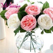 12pcs/lot Cheap Fresh Rose Artificial Real Touch Rose Flowers Home Decoration Decorative Silk flower for Wedding Birthday(China)