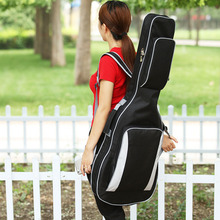 The new electric guitar electric bass backpack Plus thick cotton guitar package shockproof waterproof shoulder bag guitar(China)