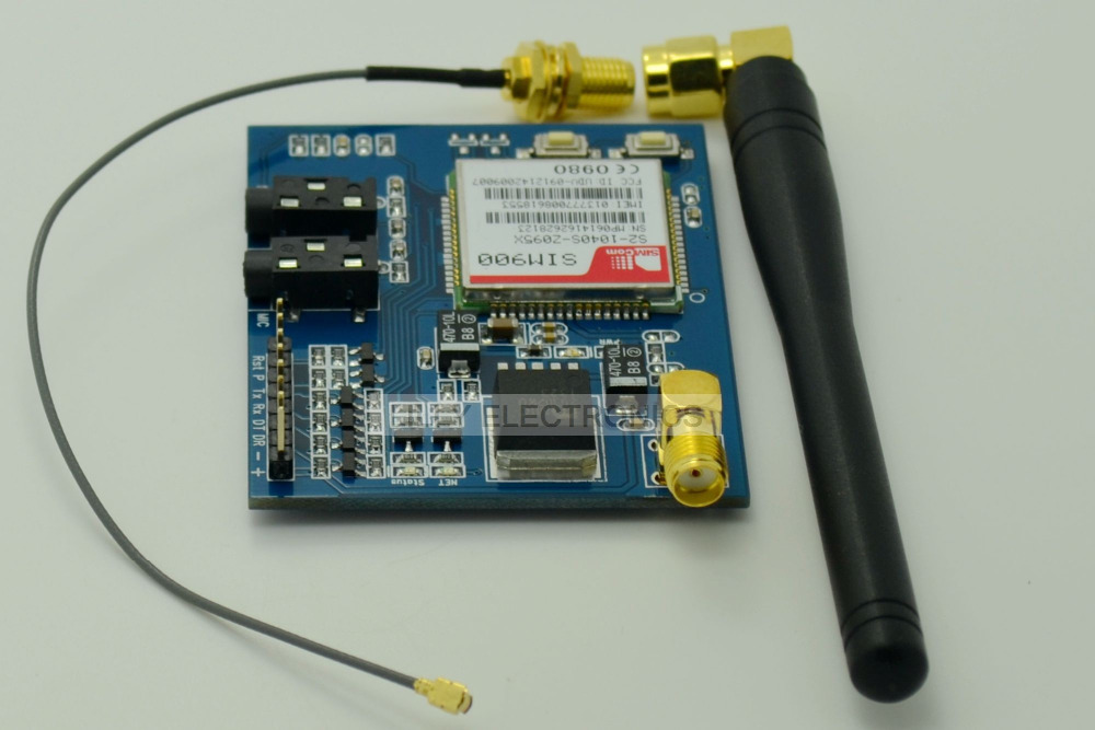 SIM900 GSM/GPRS Minimum System Module W/ Antenna Compatiable with RASPBERRY PI<br>