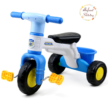 2017 Real Kids Electric Children Tricycle Preschool Music Bike Three Wheel Baby Walker Stroller Bicycle Electric Ride On Toy(China)