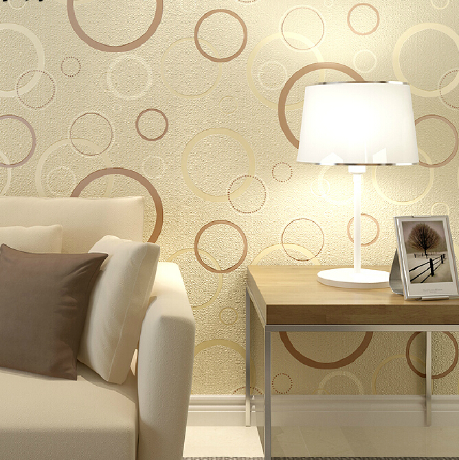 5 Color Fashion Stereo 3D Circle Wallpaper Modern Minimalist Living Room Bedroom Background Wallpaper Non-woven Wallpaper Roll<br>