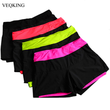 VEQKING Women Running Shorts,Lined Anti-Emptied Stretch Trainning Fitness Yoga Sports Short Pants Slim Gym Sweat Shorts(China)