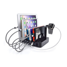 Buy Multifunctional Mobile Phone Stand 6 port USB Charger Smart Quick Charging Station Desktop Holder iPhone 8 iPad Android for $33.90 in AliExpress store