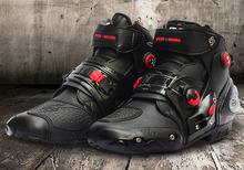 2015 Men Motorcycle Boots Speed Bikers Microfiber Leather Racing shoes boots botas Size: 40/41/42/43/44/45