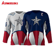 Kawasaki Brand Unisex Ice Hockey Jersey Top American Captain 2 Color Choose 75# Can Custom Mens Training Hockey Shirts Jerseys
