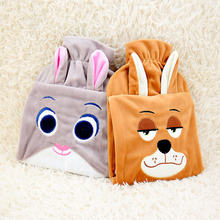 Cartoon Fox Rabbit CP PVC Hot Water Bag Washable Flannel Cover Hand Warmer Hot Water Bag Storage Water Bag 1pc 26*18cm 2050HW(China)