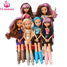 UCanaan NEW Monster Wizard Dolls Fashion Toys 1 Doll with clothes and shoes Joint Body Colorful long hair Best Gift for girl diy(China)
