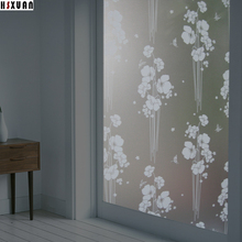 flower printed glass stickers 60X100cm pvc frosted Waterproof self Adhesive decorative static window film Hsxuan brand 609015(China)