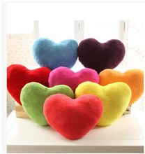 Free Shipping 25cm 33cm 38cm Rose Velvet 10 Colours Heart-shaped Cushion Pillow Plush Valentine Gift Car Creative Home Deco