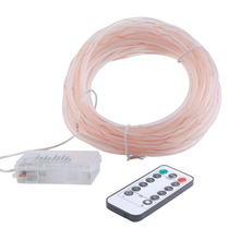 Remote Control 10M 100 LED Light Waterproof Transparent Tube Outdoor Lamps LED String Light Copper Wire with 8 Modes Battery Box