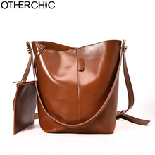 OTHERCHIC Vintage Bucket Bag Women Shoulder Bags Fashion All Match Women Messenger Bags Solid Crossbody Bag Clutch L-7N08-69(China)
